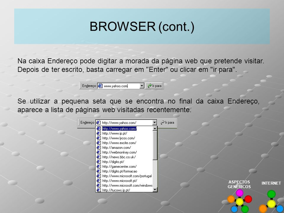 BROWSER (cont.)