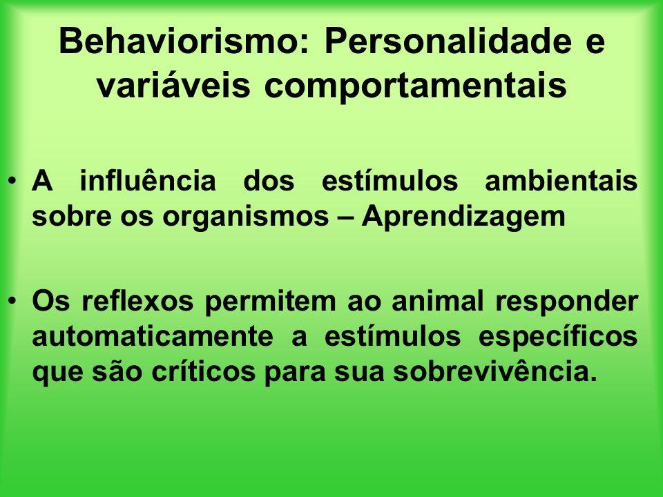 Behaviorismo: Personalidade e variáveis comportamentais