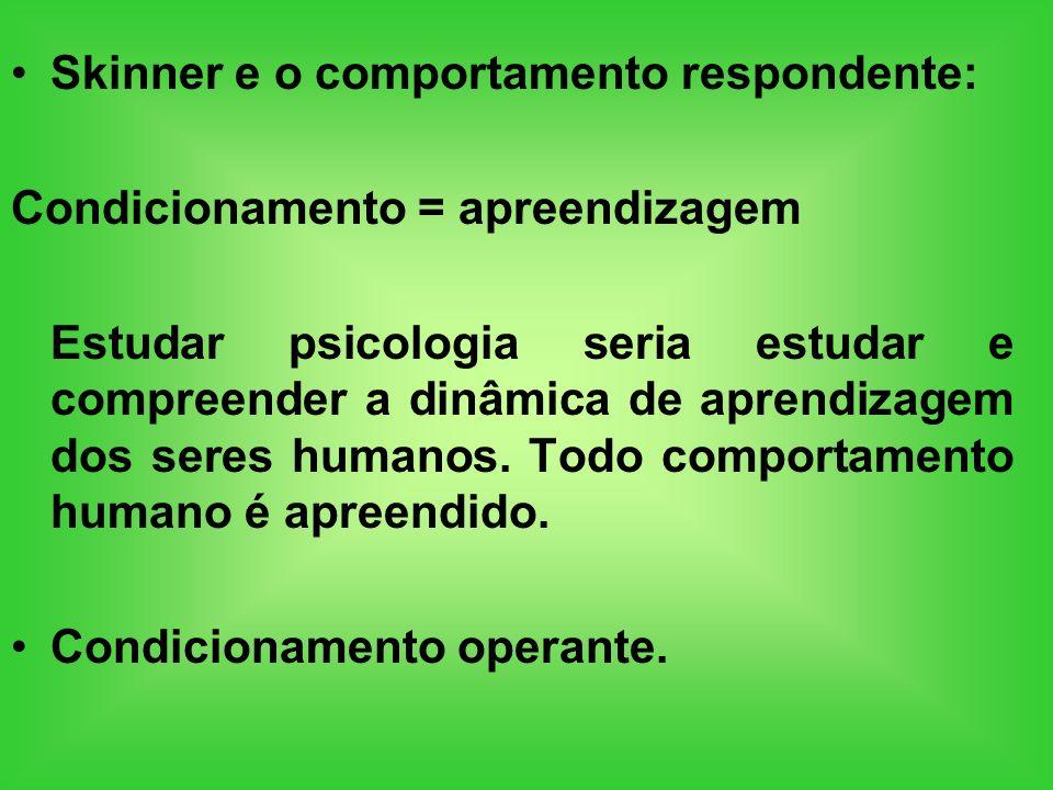 Skinner e o comportamento respondente: