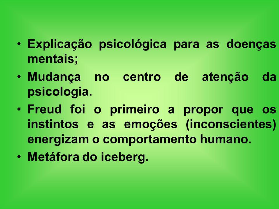 Explicação psicológica para as doenças mentais;