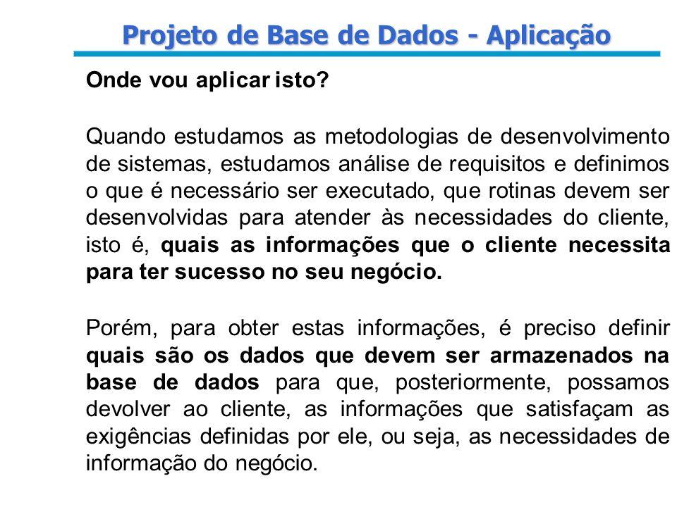 Projeto de Base de Dados - Aplicação