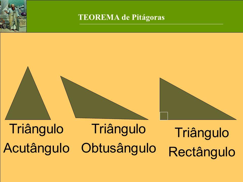 Triângulo Acutângulo Triângulo Obtusângulo Triângulo Rectângulo