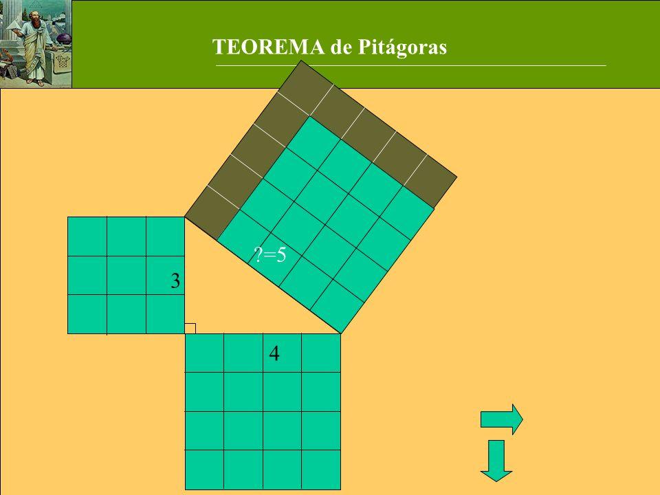TEOREMA de Pitágoras =5 3 4