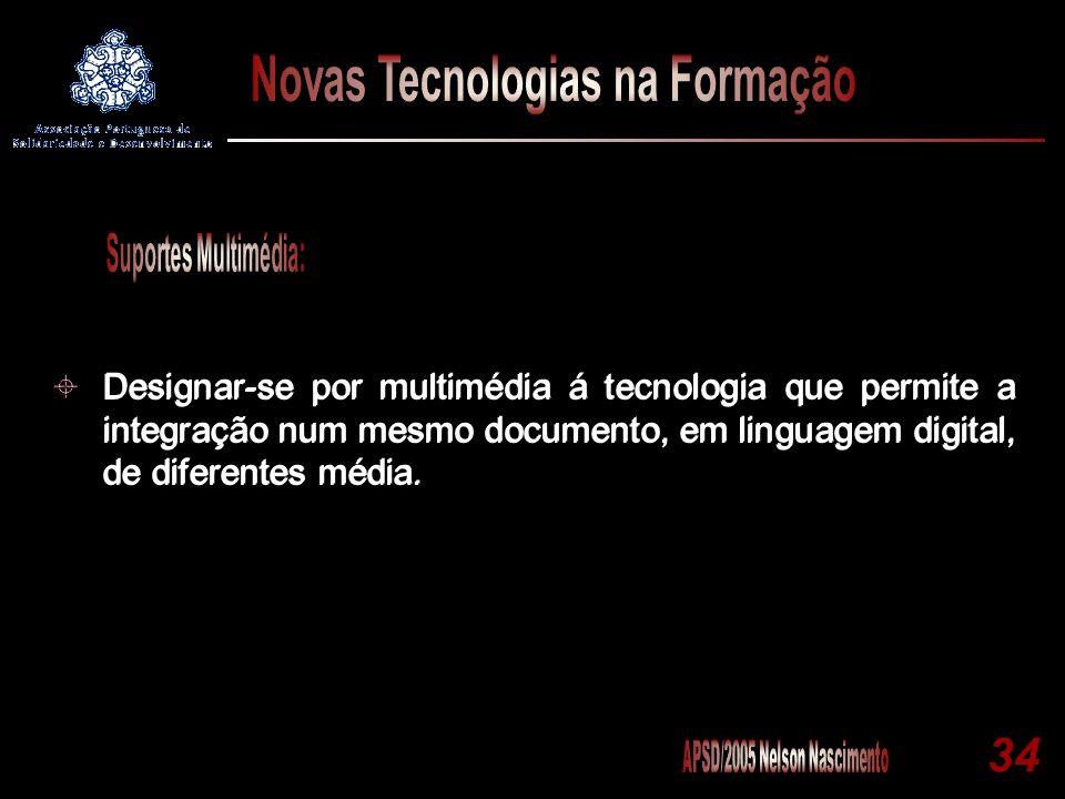 Designar-se por multimédia á tecnologia que permite a integração num mesmo documento, em linguagem digital, de diferentes média.