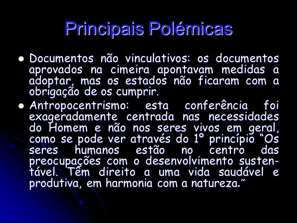 Principais Polémicas