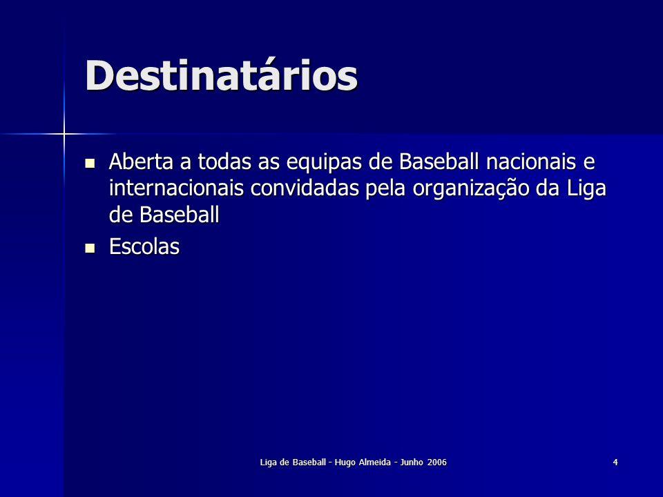 Liga de Baseball - Hugo Almeida - Junho 2006