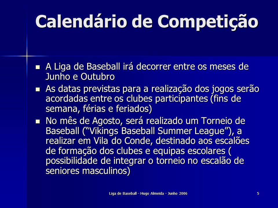 Calendário de Competição
