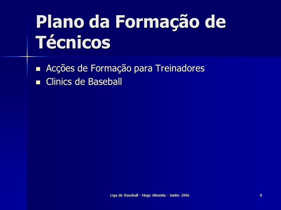 Plano da Formação de Técnicos
