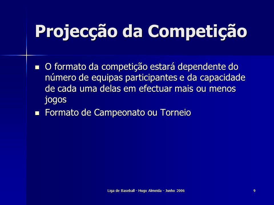 Projecção da Competição