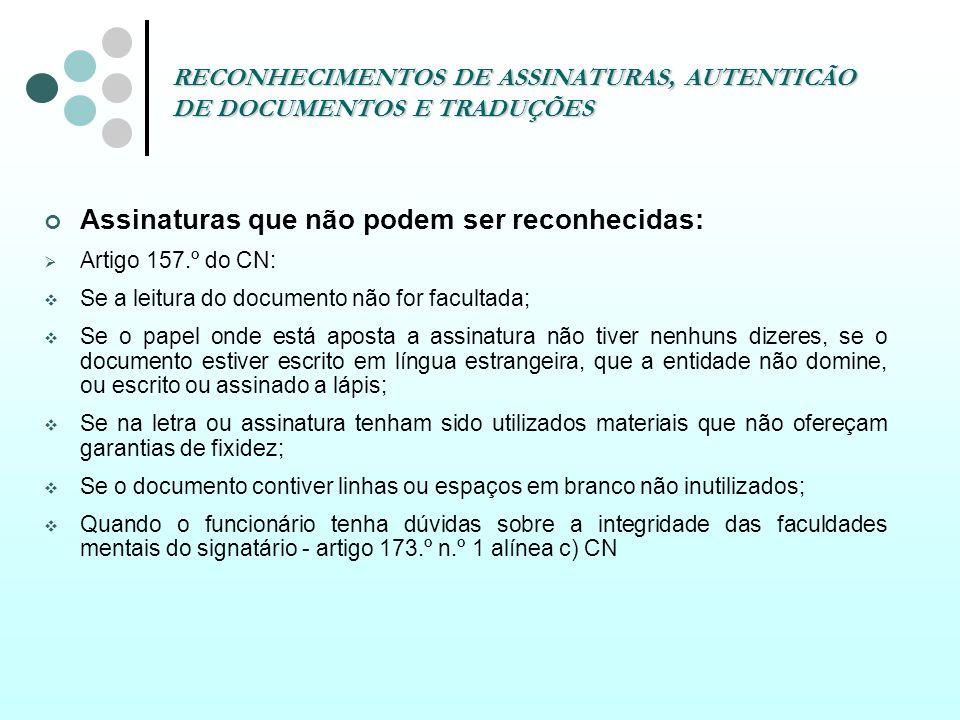 RECONHECIMENTOS DE ASSINATURAS, AUTENTICÃO DE DOCUMENTOS E TRADUÇÕES