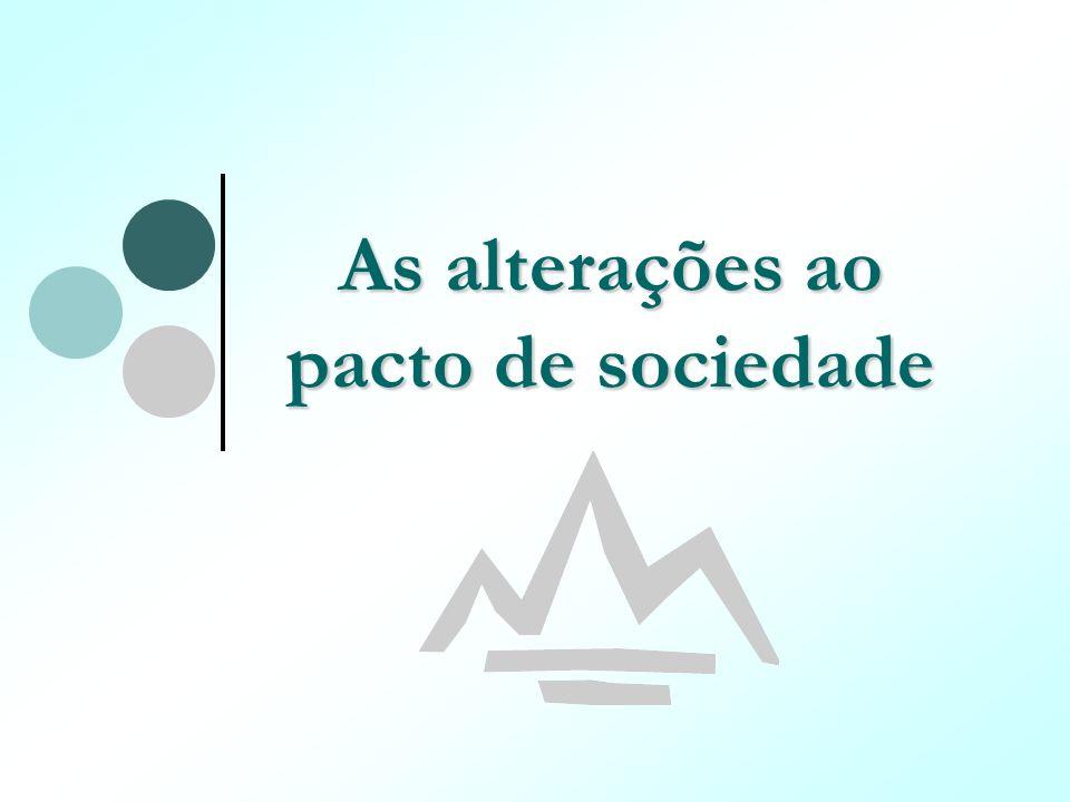 As alterações ao pacto de sociedade