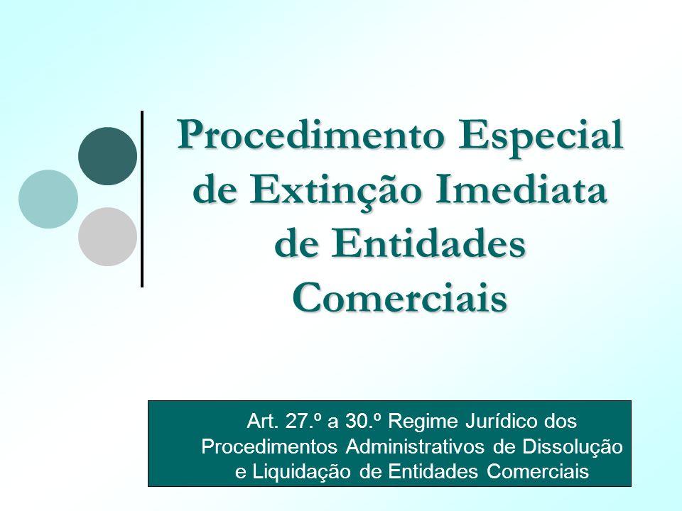 Procedimento Especial de Extinção Imediata de Entidades Comerciais