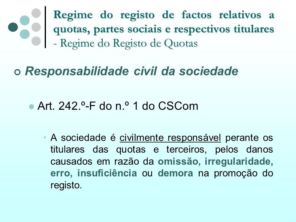 Responsabilidade civil da sociedade