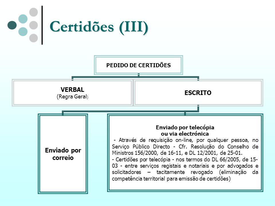Certidões (III)