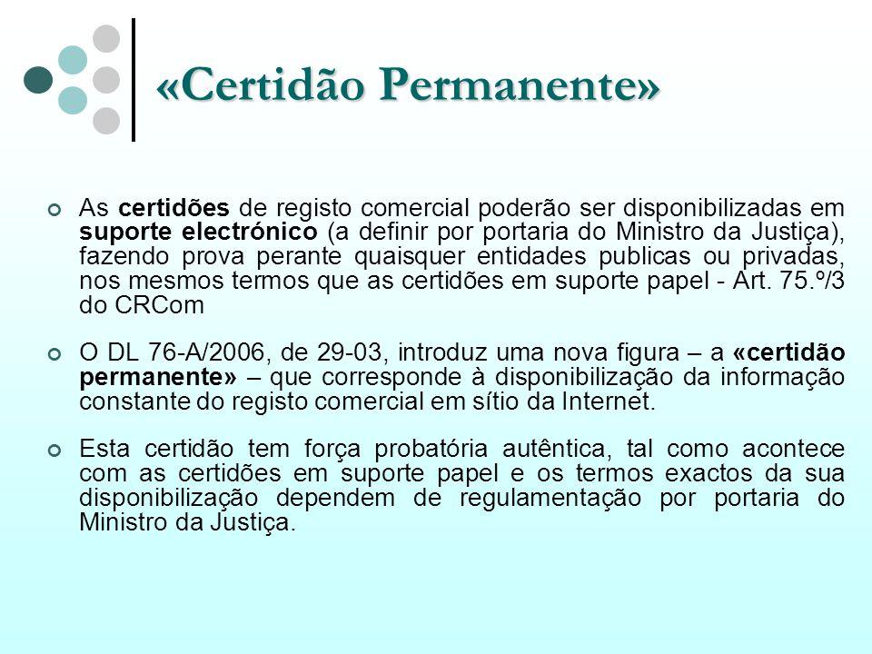 «Certidão Permanente»