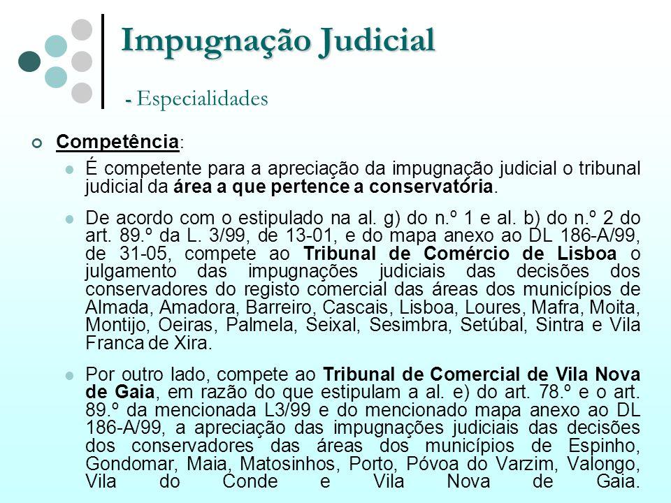 Impugnação Judicial - Especialidades