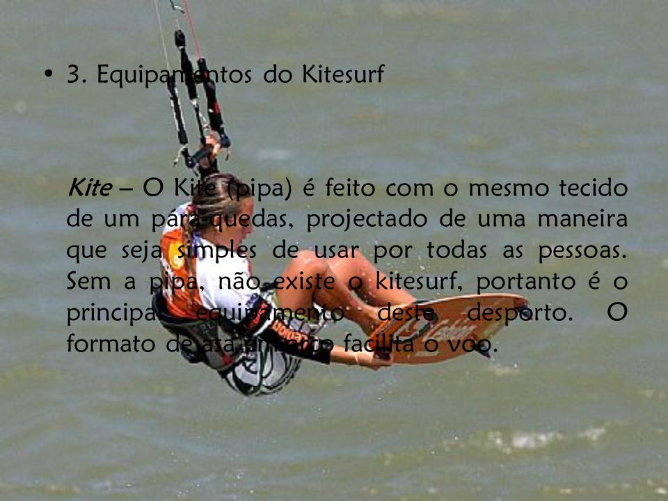 3. Equipamentos do Kitesurf