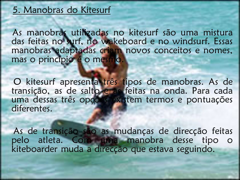 5. Manobras do Kitesurf
