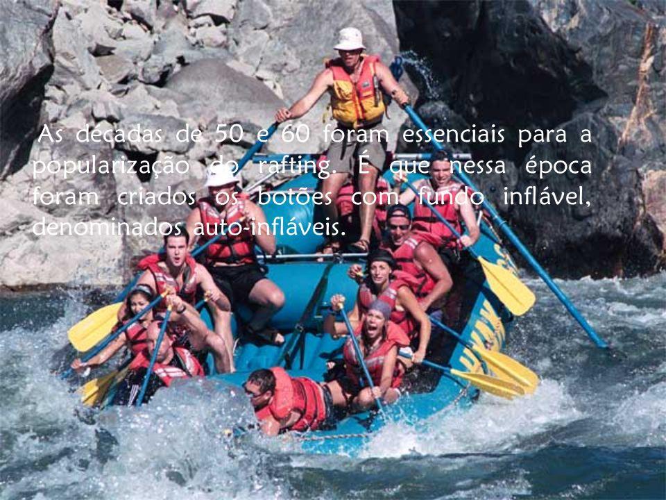 As décadas de 50 e 60 foram essenciais para a popularização do rafting