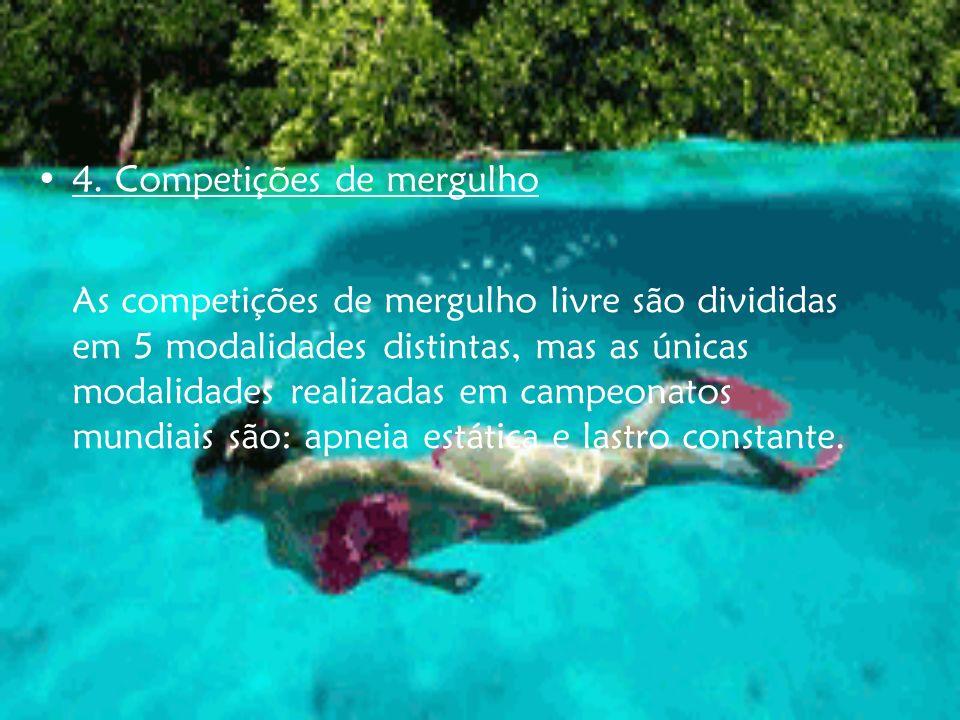 4. Competições de mergulho
