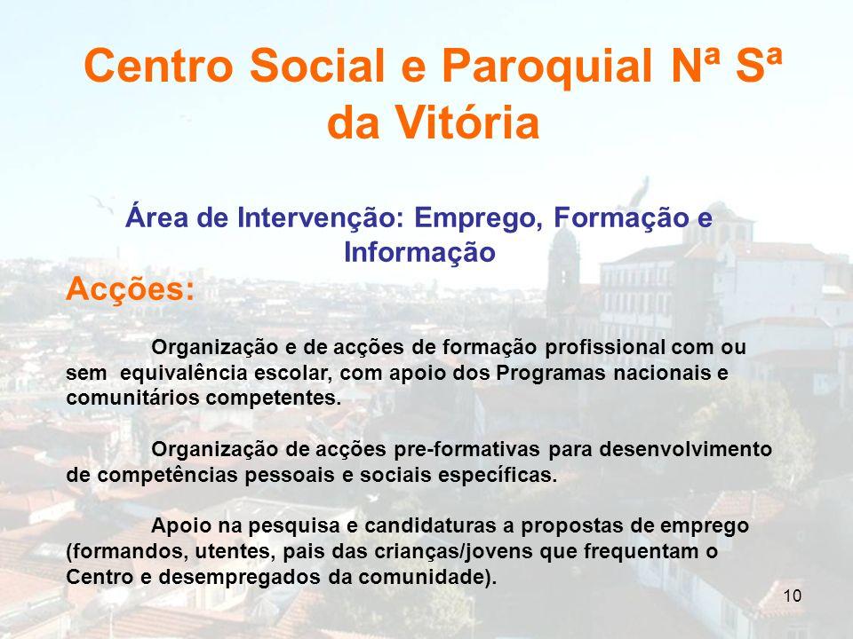 Área de Intervenção: Emprego, Formação e Informação