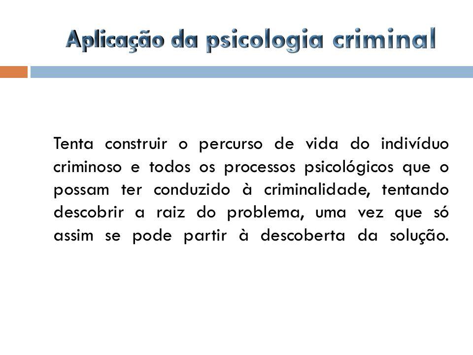 Aplicação da psicologia criminal