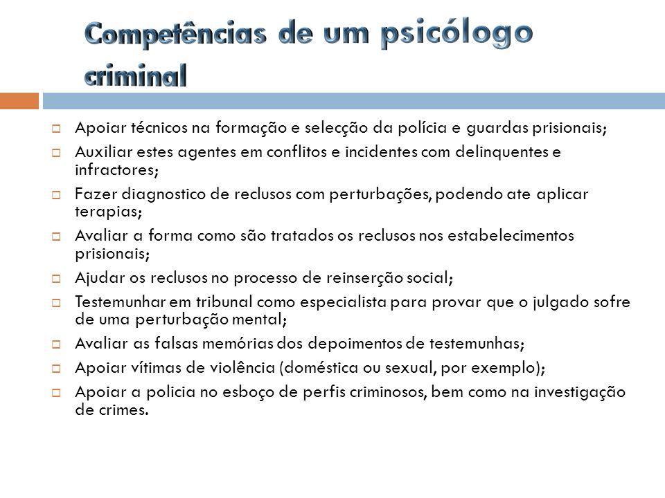 Competências de um psicólogo criminal