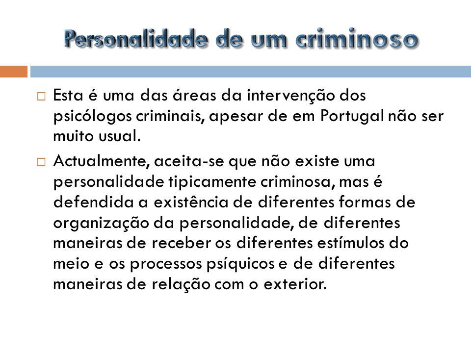 Personalidade de um criminoso