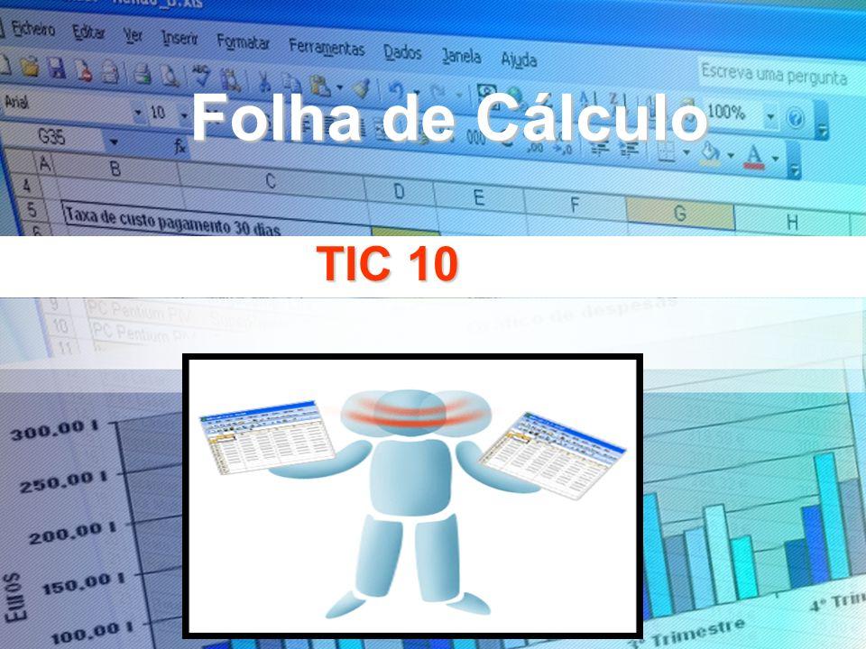 Folha de Cálculo TIC 10
