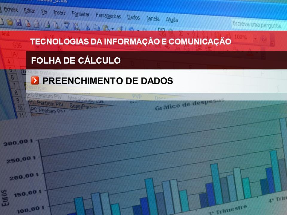PREENCHIMENTO DE DADOS