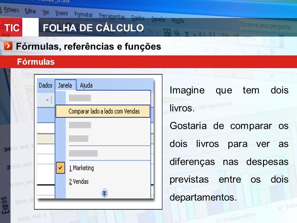 Fórmulas, referências e funções