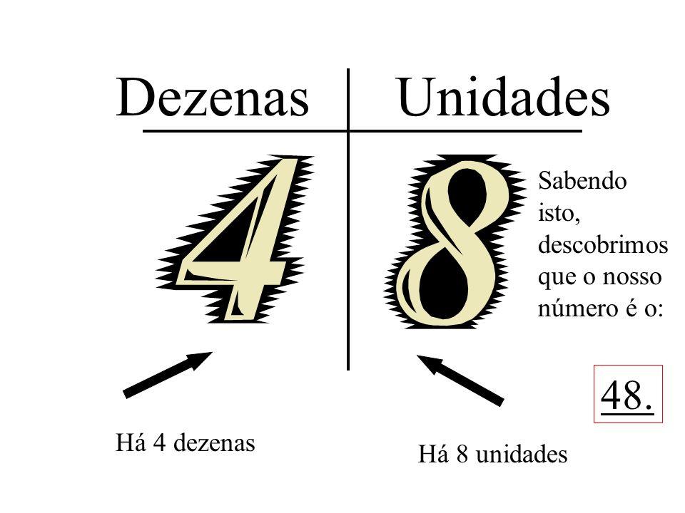 Dezenas Unidades 48. Sabendo isto, descobrimos que o nosso número é o:
