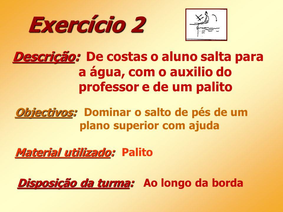 Exercício 2 Descrição: De costas o aluno salta para