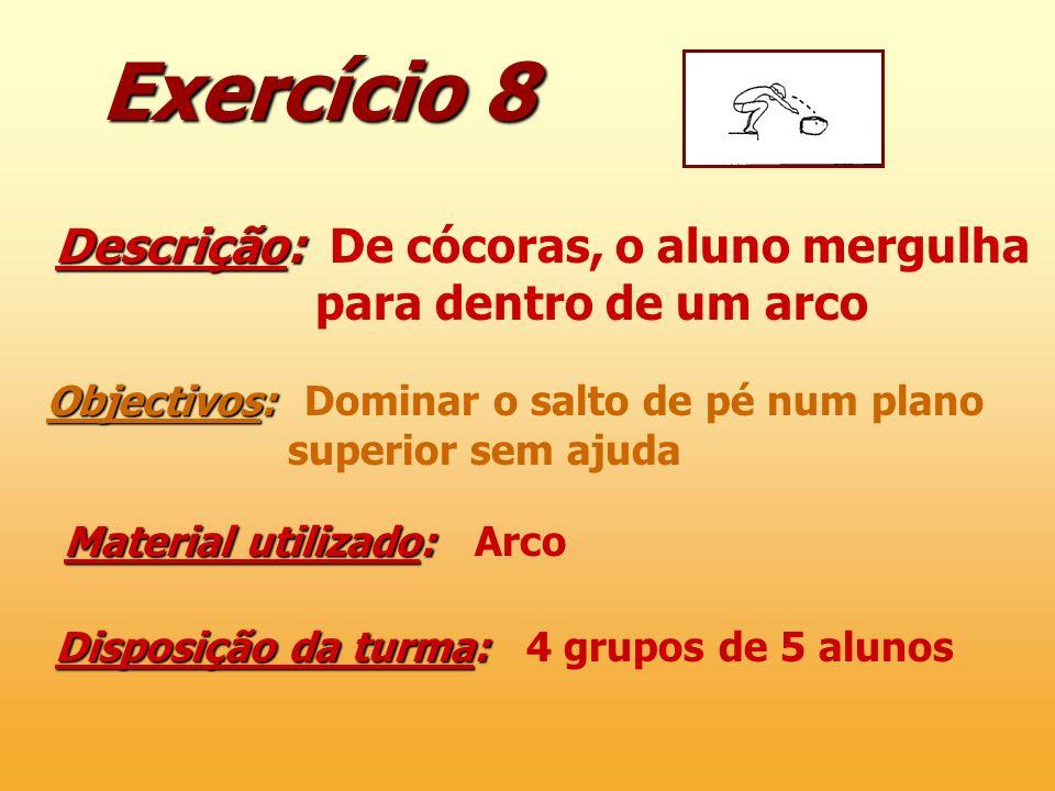 Exercício 8 Descrição: De cócoras, o aluno mergulha