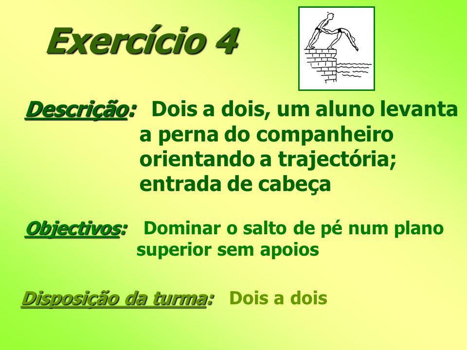 Exercício 4 Descrição: Dois a dois, um aluno levanta