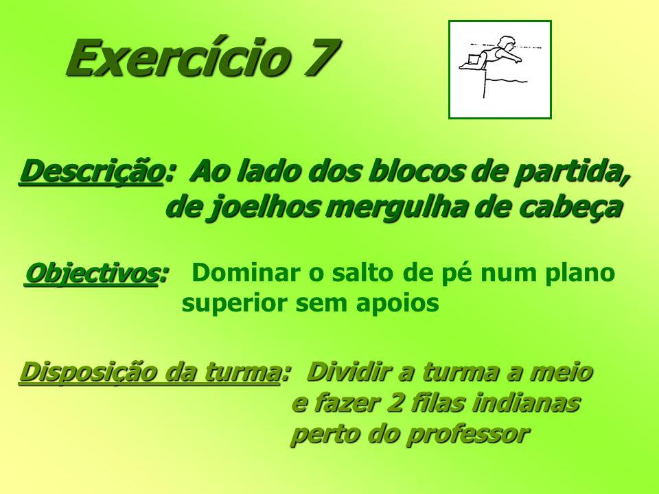 Exercício 7 Descrição: Ao lado dos blocos de partida,