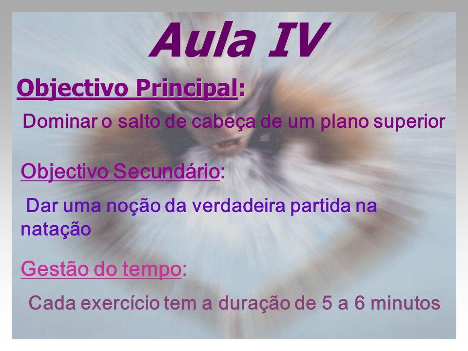 Aula IV Objectivo Principal: