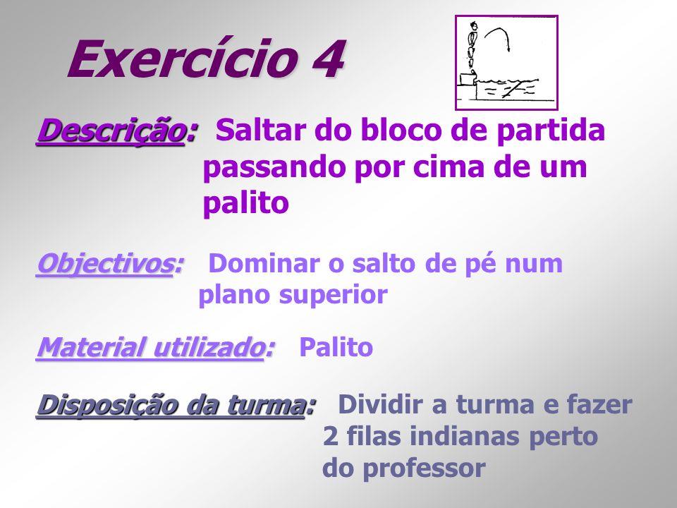 Exercício 4 Descrição: Saltar do bloco de partida
