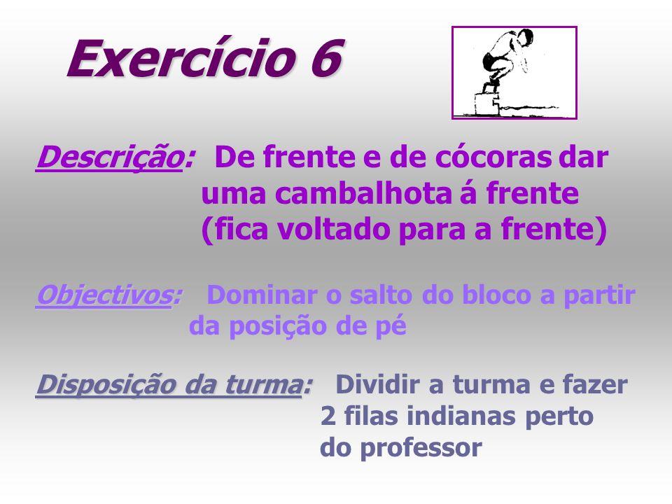 Exercício 6 Descrição: De frente e de cócoras dar