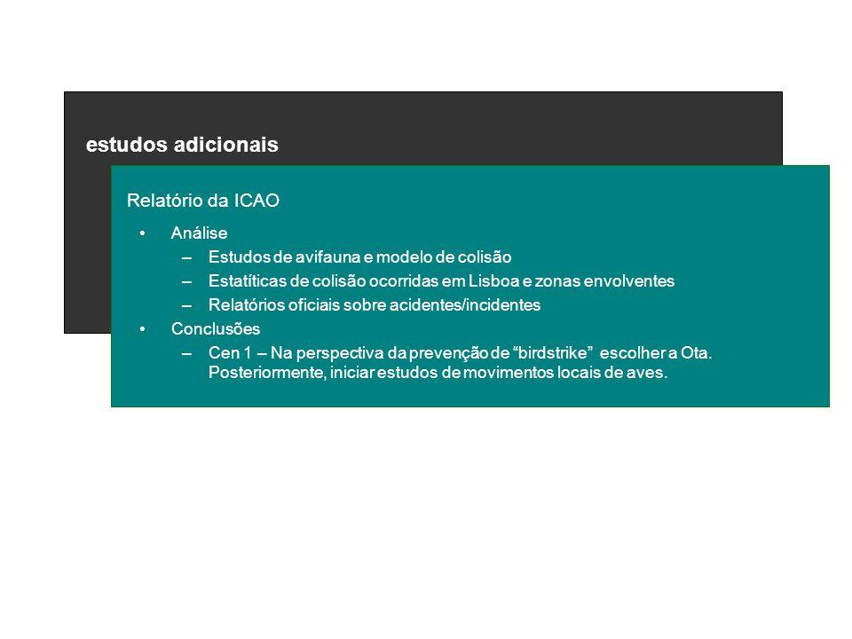 estudos adicionais Relatório da ICAO Análise