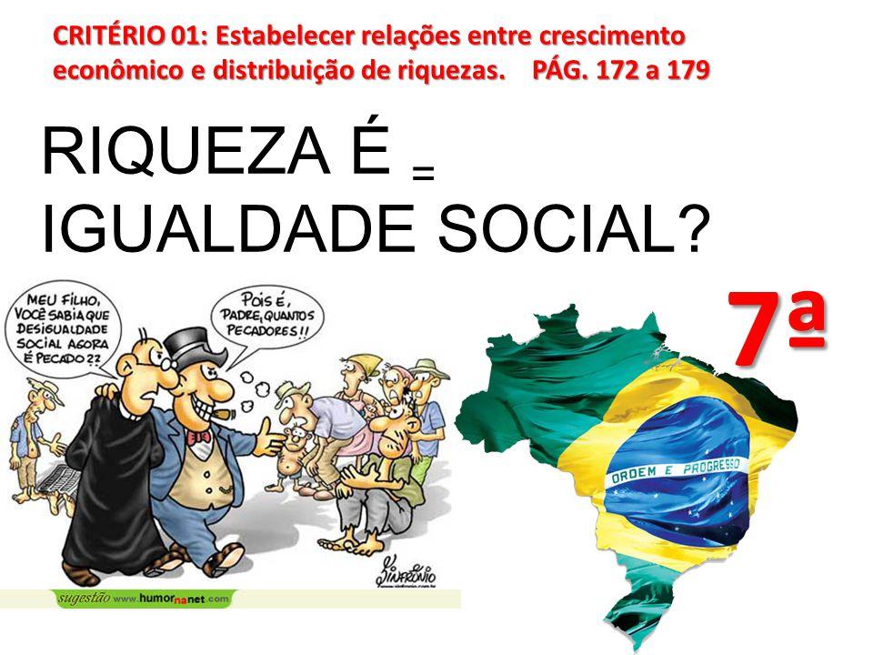 7ª RIQUEZA É = IGUALDADE SOCIAL