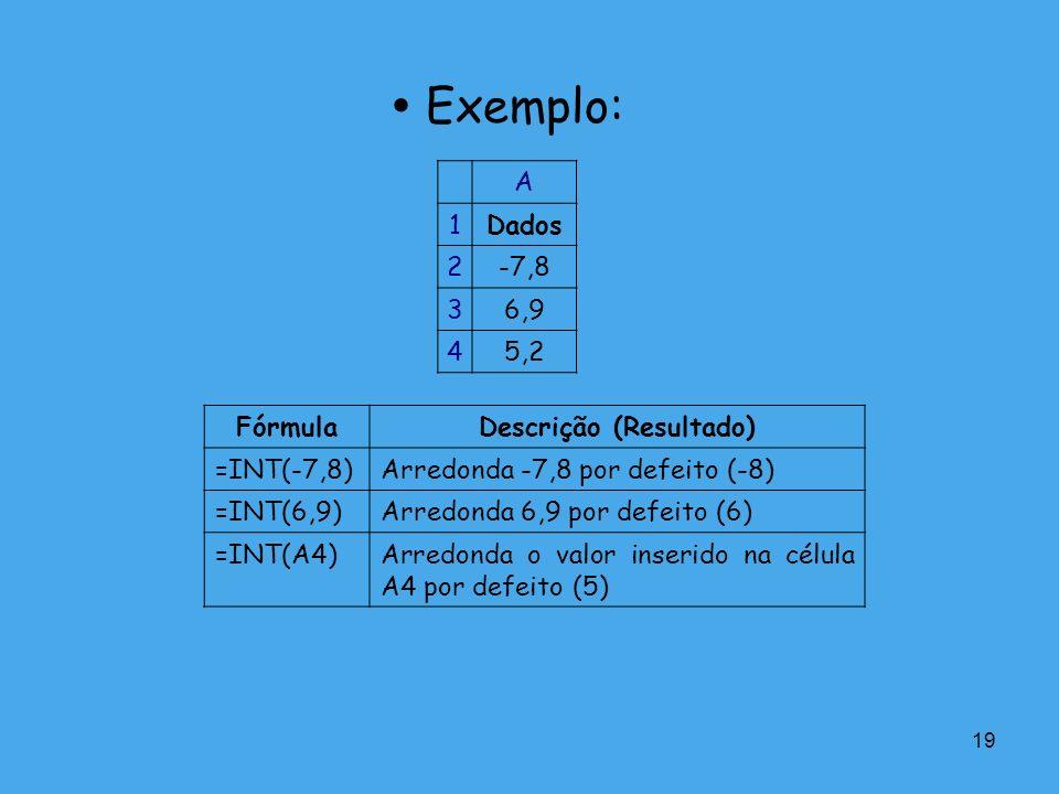 Descrição (Resultado)