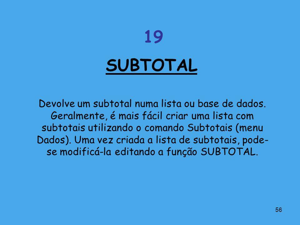 SUBTOTAL 19.