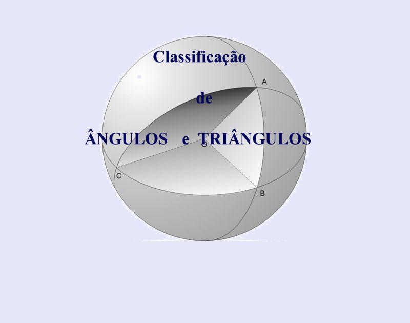 Classificação de ÂNGULOS e TRIÂNGULOS