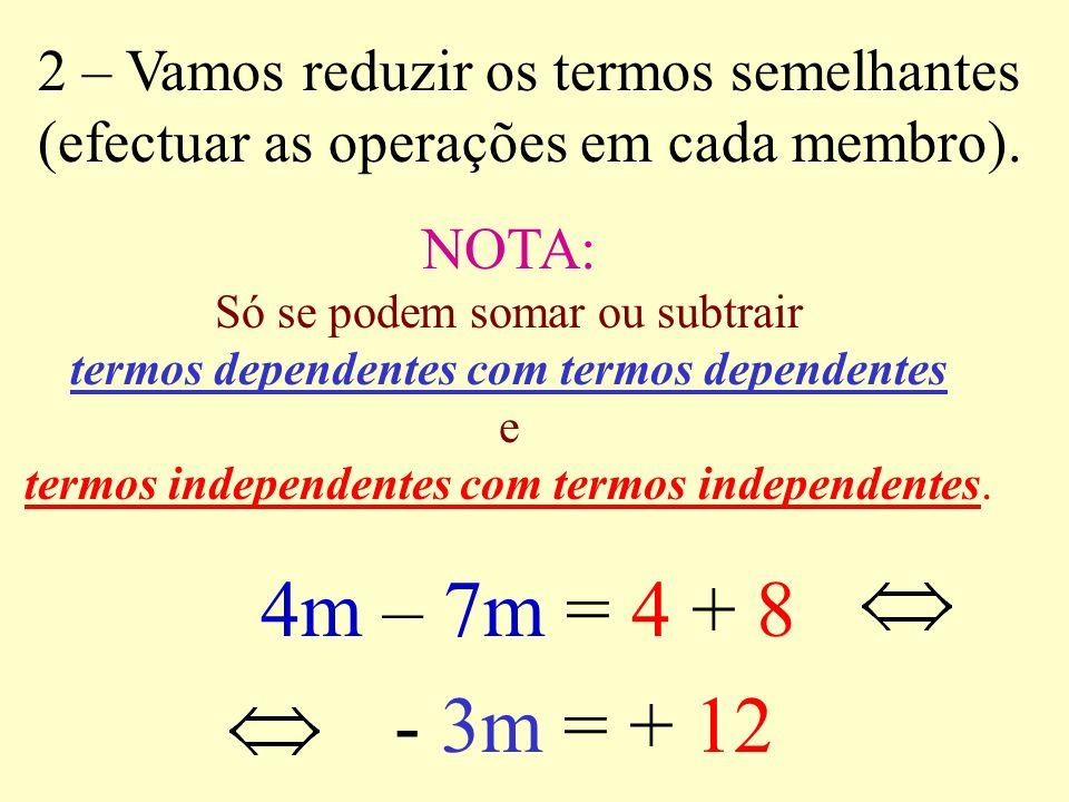termos dependentes com termos dependentes