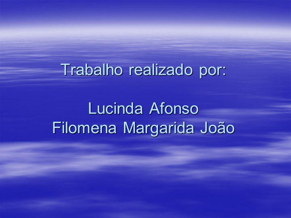 Trabalho realizado por: Lucinda Afonso Filomena Margarida João