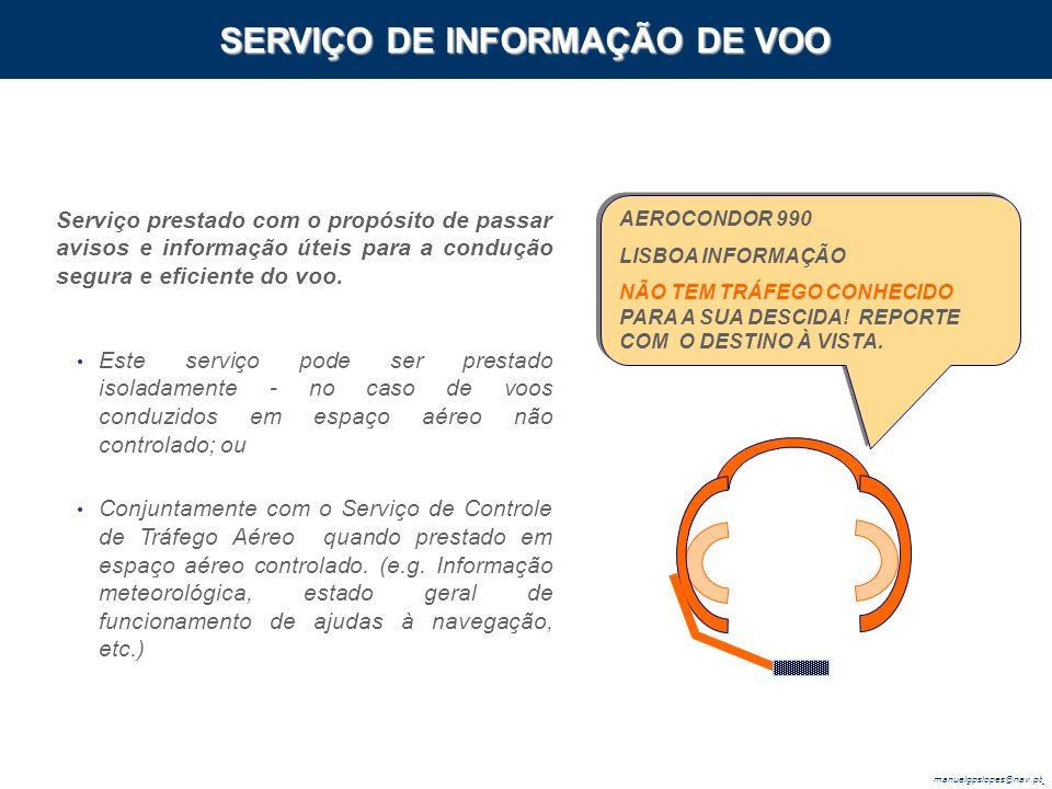 SERVIÇO DE INFORMAÇÃO DE VOO