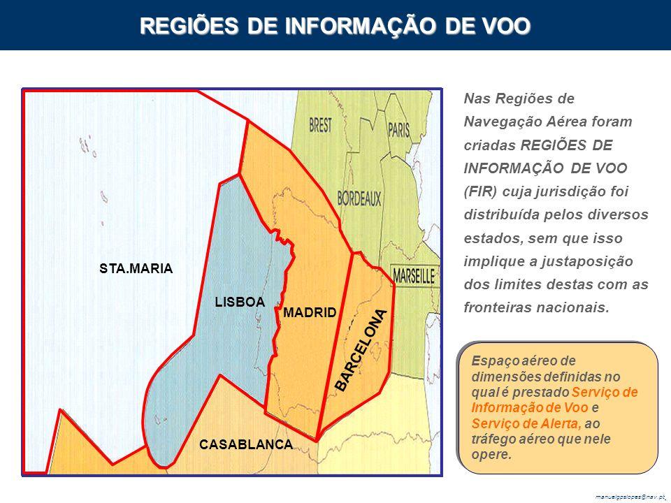 REGIÕES DE INFORMAÇÃO DE VOO