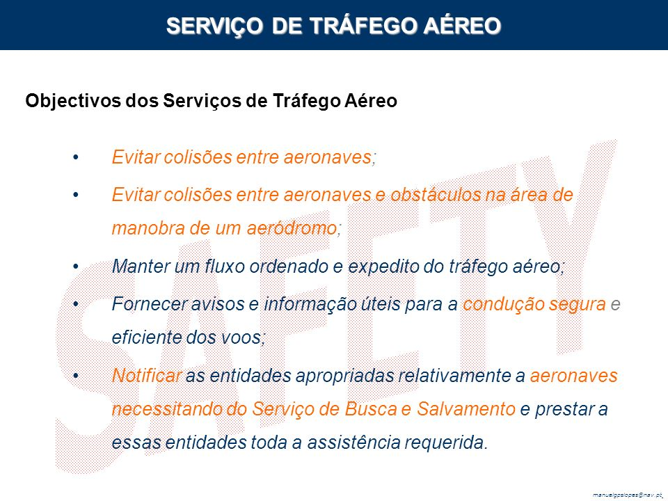 SERVIÇO DE TRÁFEGO AÉREO