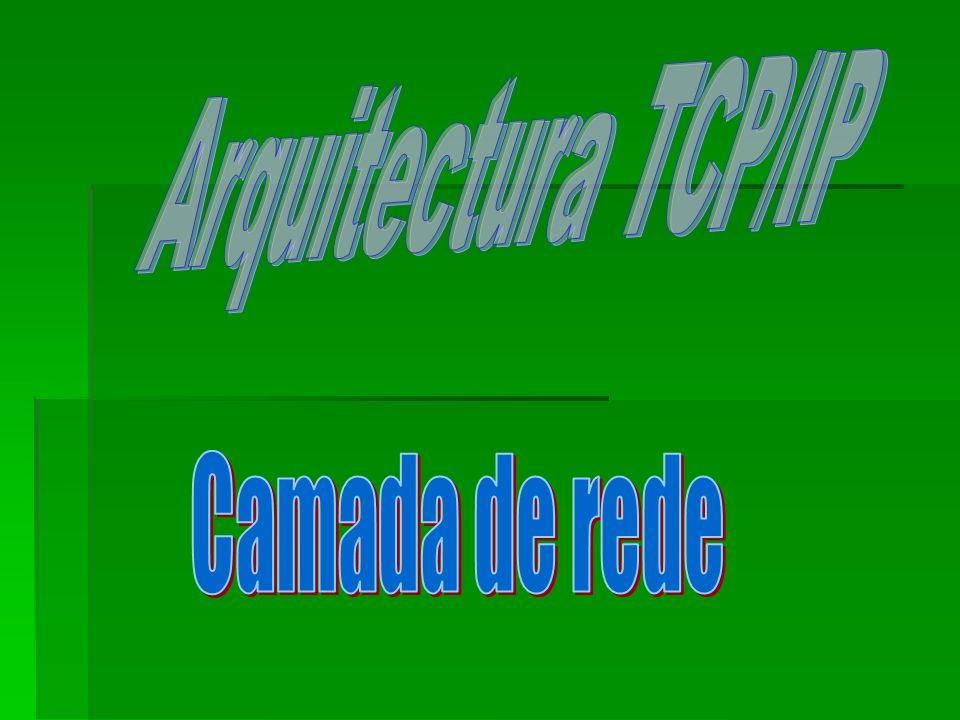 Arquitectura TCP/IP Camada de rede